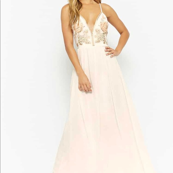 283b0f3e262 Gorgeous Ivory and Pastel Formal Dress